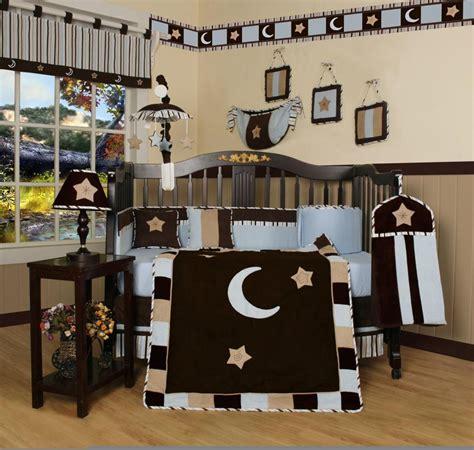 and moon crib bedding geenny blue brown moon 13pcs crib bedding set