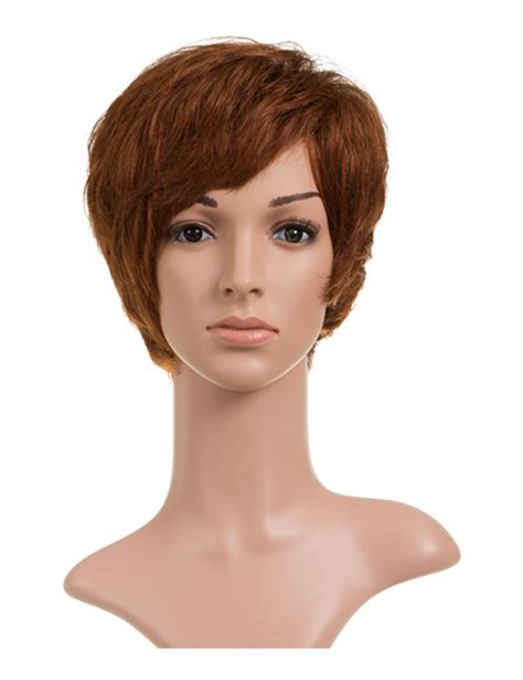 are wigs comfortable soft comfortable ladies short wavy human hair wig with
