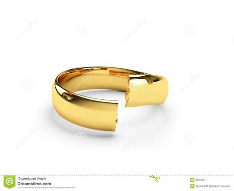 broken gold wedding rings royalty free stock photography
