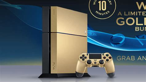 shop ps4 console limited edition gold ps4 consoles to be won from taco bell