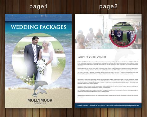 wedding company brochure design brochure design for mollymook golf club by smart design