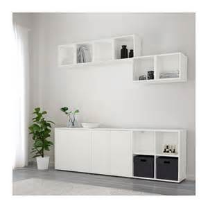 Ikea Eket Cabinet by Eket Cabinet Combination With Feet White 210x35x180 Cm Ikea