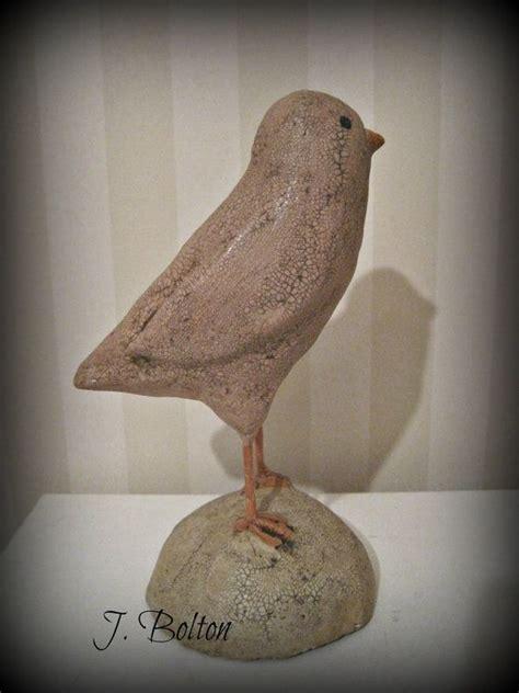 How To Make Paper Mache Birds - pink bird papier mache bird paper mache sculpture folk