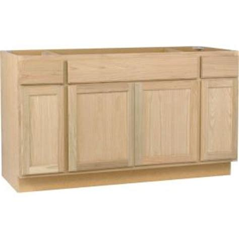kitchen cabinets at home depot unfinished oak white in assembled 60x34 5x24 in sink base kitchen cabinet in