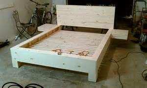 Diy Platform Bed Plans Furniture Diy Platform Bed With Floating Nightstands Diy Platform