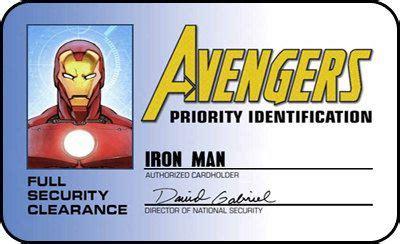 avengers iron man id card stark tech cosplay movieprops