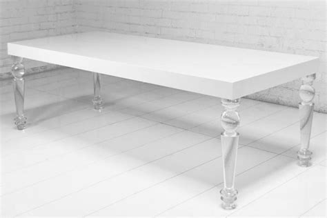 bel air lucite leg dining table i roomservicestore