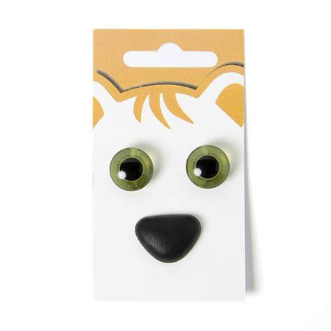 yeux d animaux nez d animaux kit 9 boutons verts