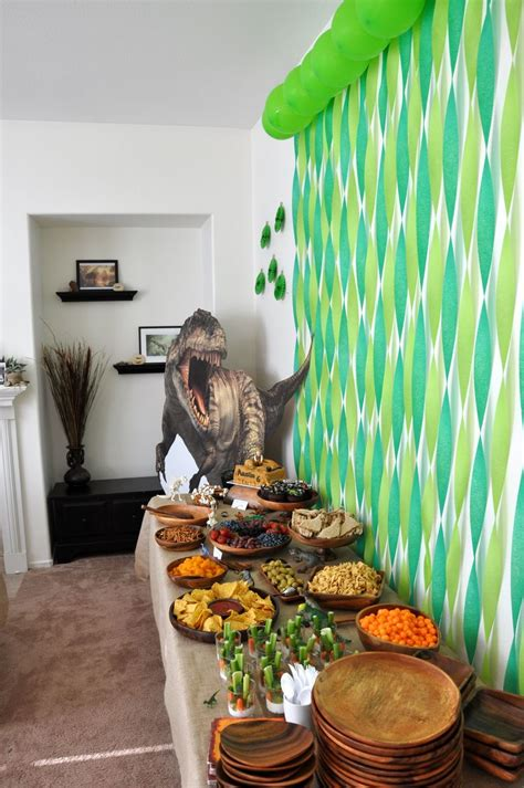 Dinosaurs Decorations by Dinosaur Decorations Food Table Dean S 9th