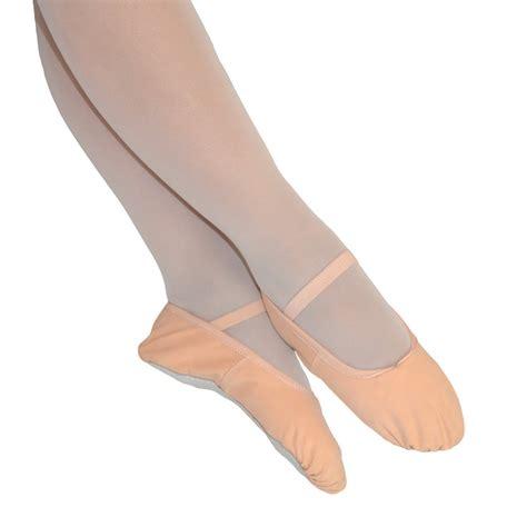 pink canvas ballet shoes