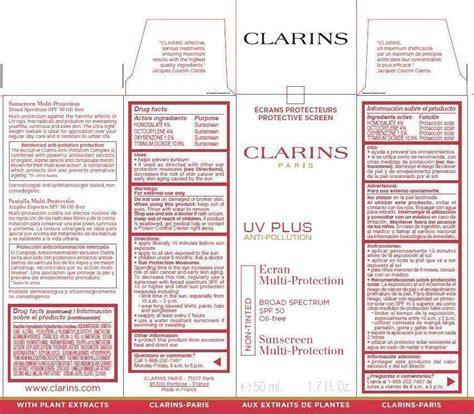 Clarins Uv Plus Anti Pollution Ecran Multi Protection Spf50pa 50ml 2 clarins uv plus anti pollution broad spectrum spf 50