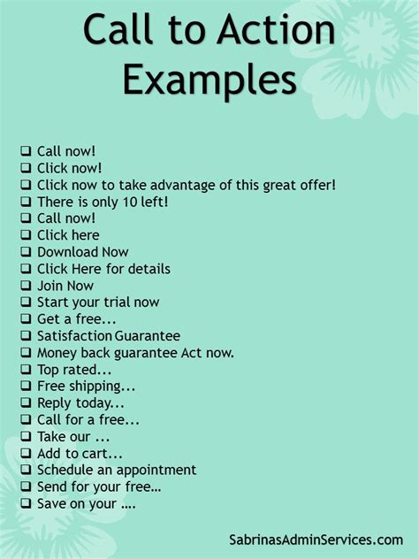 action words list awesome call to action terms to enhance