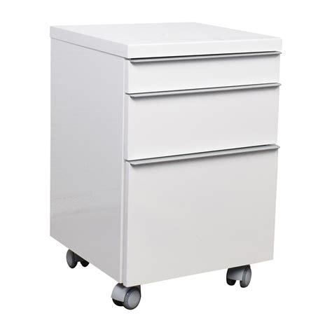 75% OFF   White 3 drawer Filing Cabinet / Storage