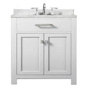 home depot bathroom vanities 30 water creation 30 in vanity in modern white with
