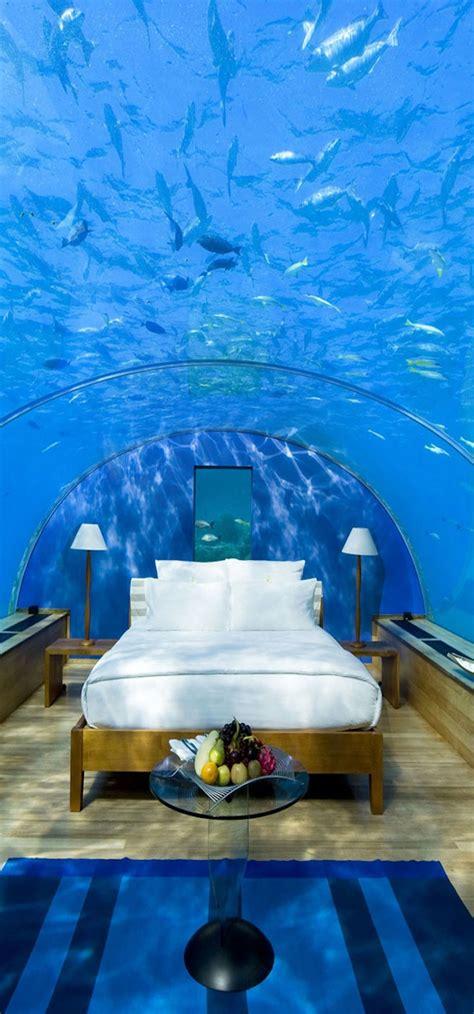 underwater bedroom in maldives 50 exotic hotels around the world