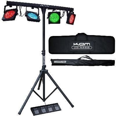 all in one dj lighting system kam led parbar par bar mk2 portable all in one dmx led