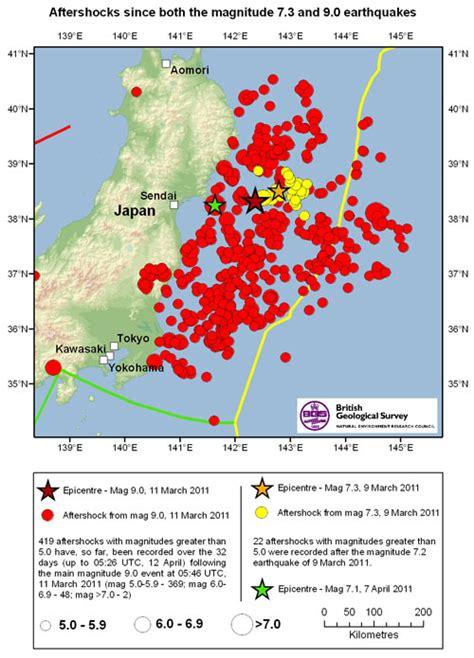 Japan Aftershock aftershocks great tohoku earthquake 9 0 11 march 2011