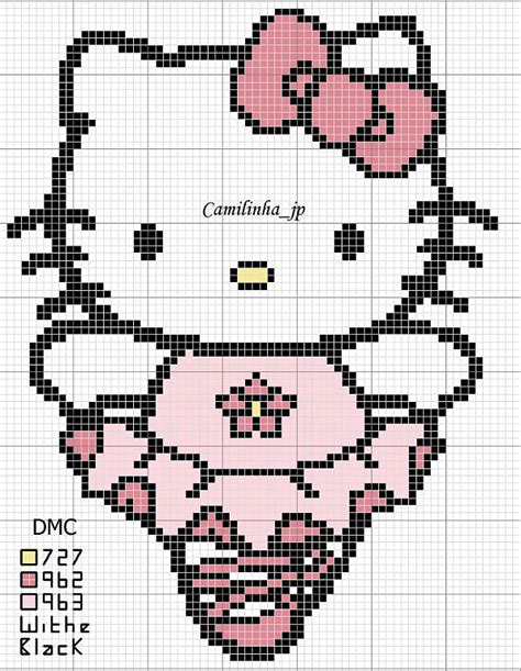 hello kitty cross stitch the best cross stitch patterns of hello kitty part three