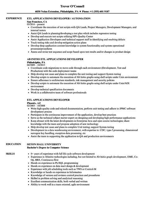 informatica etl developer sle resume informatica teradata sle resume 96 teradata resume
