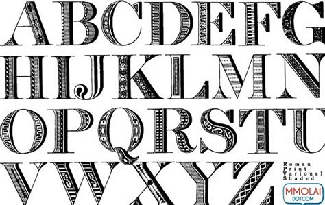 printable vintage fonts vector font roman print vector free download