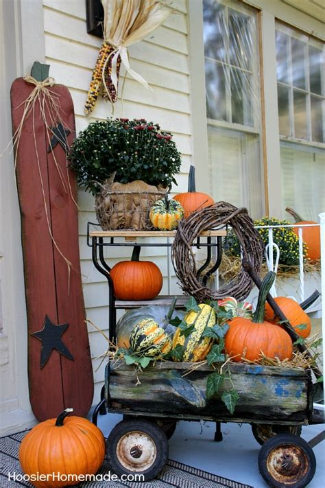 home made fall decorations fall outdoor decorating hoosier homemade