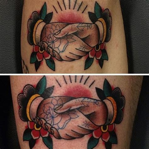 shaking hands tattoo 57 best images on school