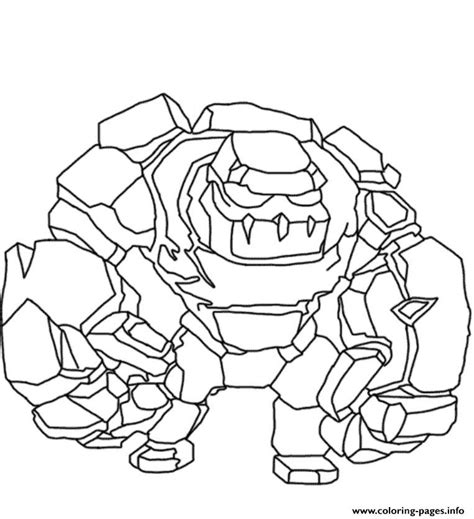 coloring page info golem clash of clans coloring pages printable