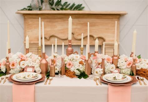 rose theme wedding ideas 6 rose gold metallic wedding ideas