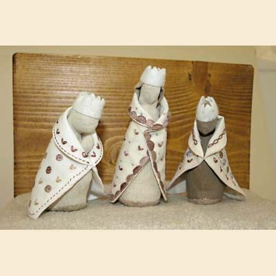 idee decoration creche noel cr 232 de noel les rois mages poterie