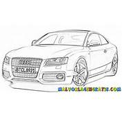 Audi A5 Malvorlage Colouring Pages