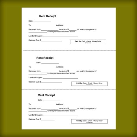 landlord rent receipt template 28 images landlord rent