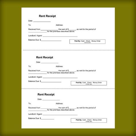rental receipt templates free printable receipts for