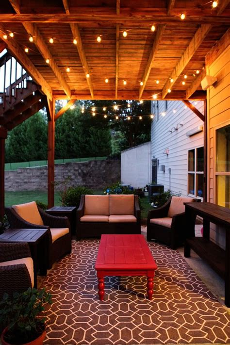 Patio String Light Ideas 17 Best Ideas About Outdoor Patio Lighting On Patio Lighting Backyard Lights Diy