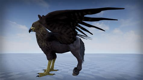 Architectural Blueprints For Sale Hippogriff By Protofactor Inc In Characters Ue4 Marketplace
