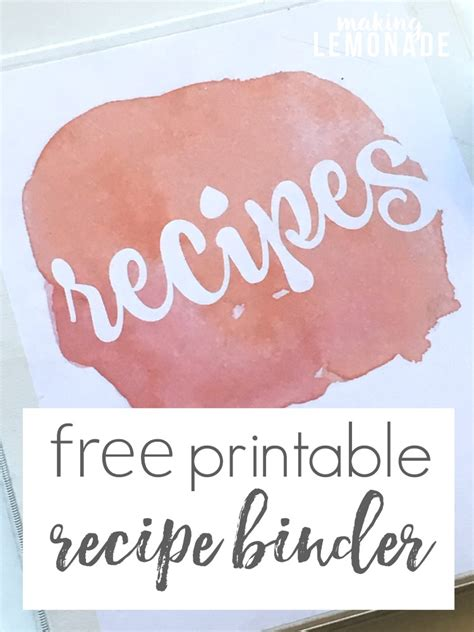 diy recipe binder recipe binders binder and money budget
