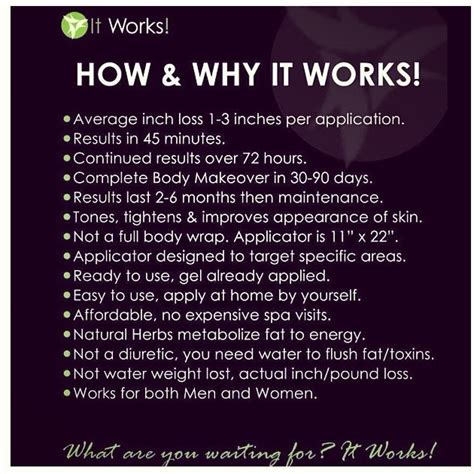 Detox Wrap Side Effects by 17 Best Images About It Works On Texts