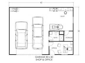 Garage Blueprints by Garage W Office And Workspace True Built Home