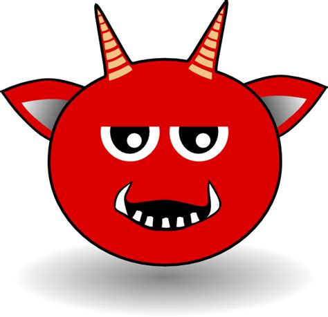 red devil head cartoon clip art at clker com vector clip