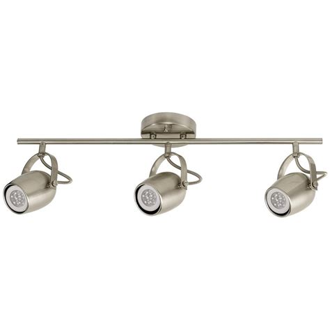 globe electric track lighting globe electric samara collection 3 light brushed nickel