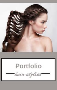 Start Your Professional Hair Stylist Portfolio Today Cosmetology Portfolio Template