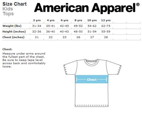 american apparel size chart wolf kid t shirt 183 creeps 183 store powered by