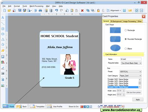 id design maker id card maker software design student employee identity