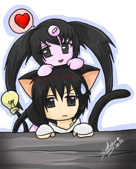 anime xd anime chibi nana and kuro chan xd by bachadark93 on deviantart