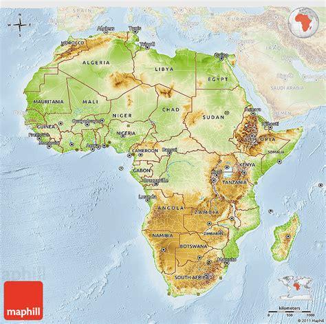 d maps africa physical 3d map of africa lighten