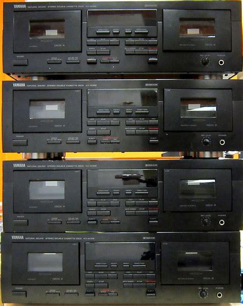 cassette deck yamaha sound stereo dual cassette deck kx w392