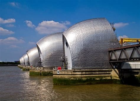 thames barrier visitor centre reviews the barrier from the path to the visitors centre picture