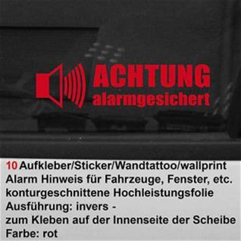 Aufkleber Scheibe Innen Entfernen by 10 Auto Pkw Gps Alarm Fenster Scheiben Aufkleber Tattoo