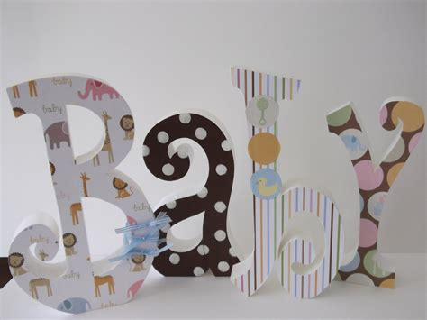 Baby Letters Wood Letters Nursery Letters Nursery Decor Home Decorated Wooden Letters For Nursery