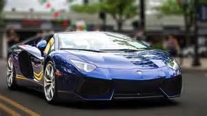Midnight Blue Lamborghini Lamborghini Aventador Roadster Startup Lots More