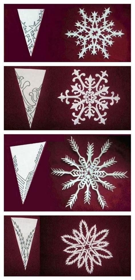 plantilla copos navidad tutorial para hacer bellos copos de nieve de papel con
